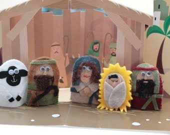 Nativity Finger puppet set