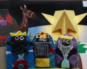 We Three Kings finger puppet set