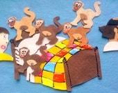 Felt Board Story Set 5 Little Monkeys Jumping On The Bed Flannel Board Felt Board Story Set