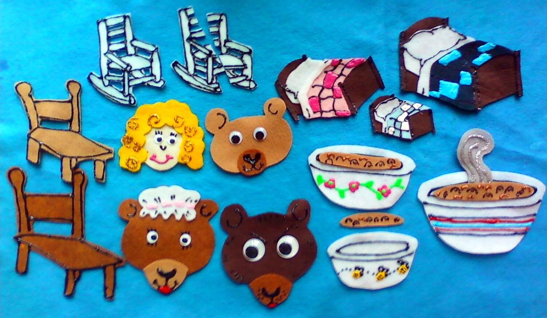 Uncategorized The 3 Bears Story felt board story set goldilocks and the three bears flannel