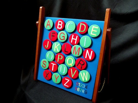 ABC Magnetic Learning Board - SALE Keepsake - Learn colors, numbers, upper and lower case letters