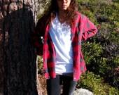 Red and Black Lumberjack Plaid Flannel