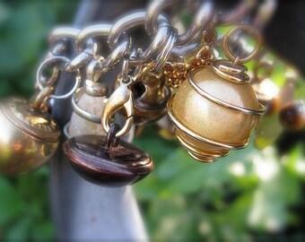 Brassy Noisy Charm Bracelet Extra Large by Star Holmberg