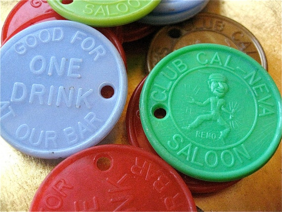 Cal-Neva Free Drink Tokens Lot of 12 On Sale