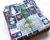 Charming Christmas Fabric Fat Quarter Bundle - Oh So Merry and Bright