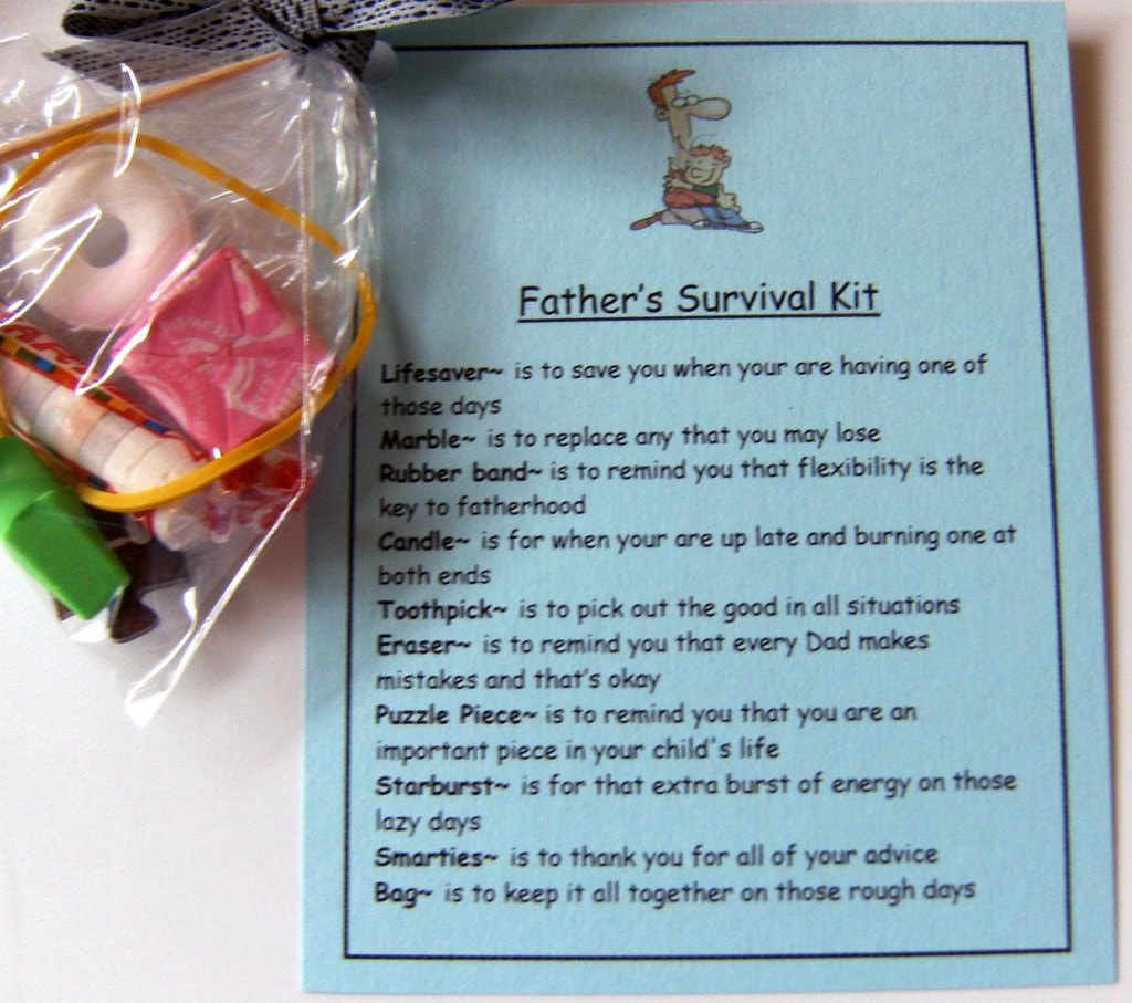 Father's Survival Kit Cute gift for Dads