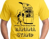 Small S there's always money in the BANANA STAND tee shirt tshirt new Yellow GOB funny man men fruit indie teeshirt fan film tv comedy show