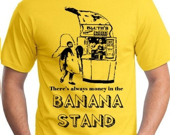 Medium Md M there's always money in the BANANA STAND tee shirt tshirt new Yellow funny man men fruit indie teeshirt fan film tv comedy show