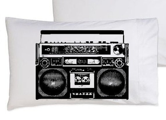 Two (2) King Size A Boombox Is Not A Toy pillowcase funny pillow cover boom box hilarious comedy unique original rap beat snl lol