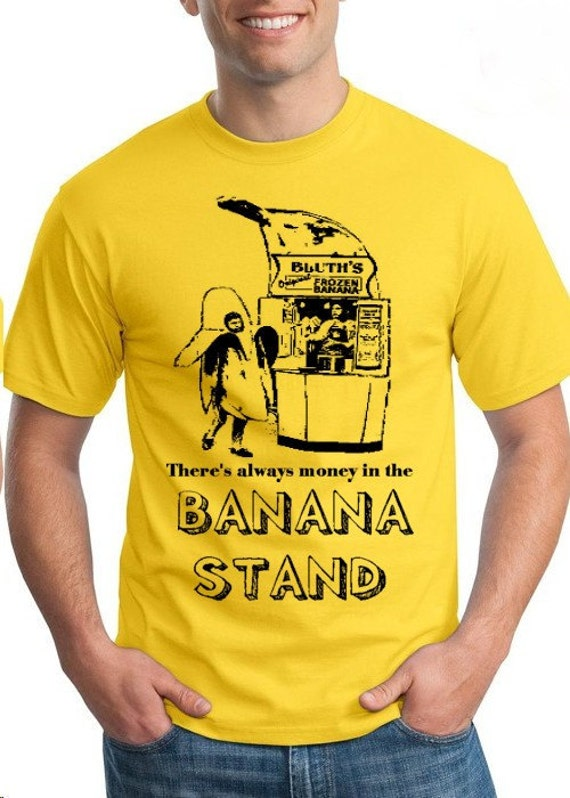 Large Lg L there's always money in the BANANA STAND tee shirt tshirt new Yellow funny man men fruit indie teeshirt fan film tv comedy show