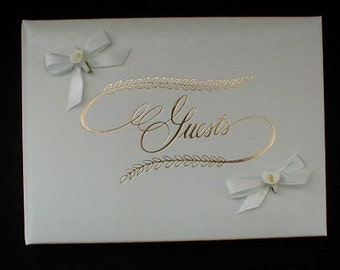 White Calla Lily Guest Book -Wedding/Anniversary/Bridal Shower-