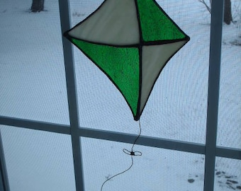 Stained Glass Kite Suncatcher