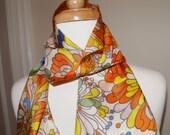 Lovely loud flowered fringed scarf