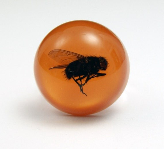 Big Hairy Fly - Resin ring - Size L