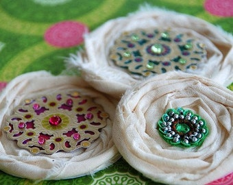 Bohemian Medallion Shabby Scrapbooking Embellies