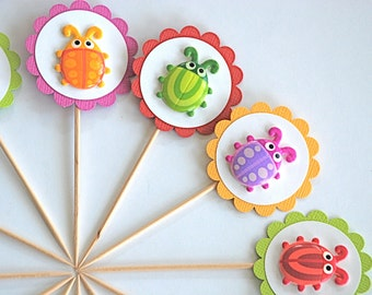 Buggy Critters Cupcake Toppers