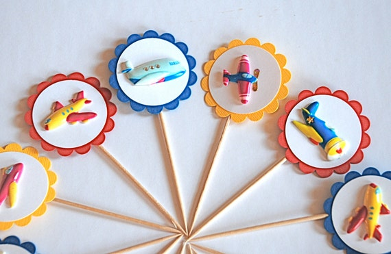 Airplanes and Things - Cupcake Toppers