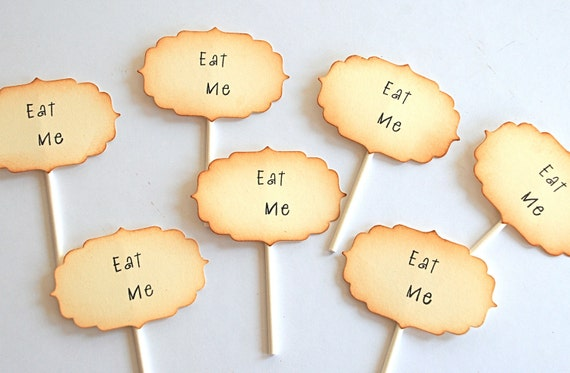 Eat Me - Cupcake Toppers/Party Sticks