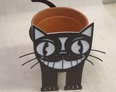 Kitty Metal Art Planter Flower Pot Stand - Free USA Shipping