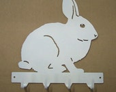 Bunny Rabbit Metal Art Key Rack