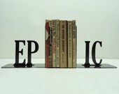 EPIC Text Metal Art Bookends - Free USA Shipping