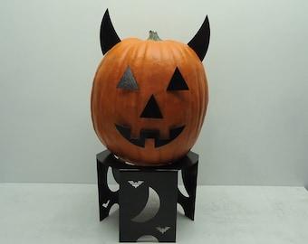 Jackolantern Pumpkin Metal Art Horns - Free USA Shipping