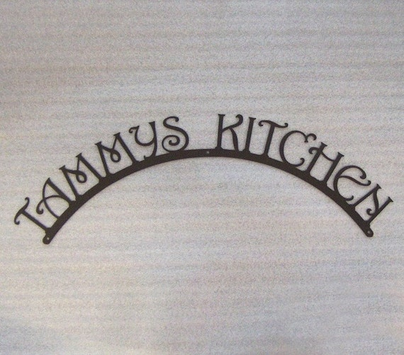 Etsy Personalized Wall Decor : Items similar to personalized kitchen sign wall art on etsy