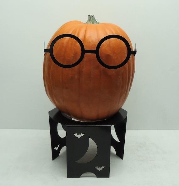Pumpkin JackOLantern Metal Art Glasses - Free USA Shipping