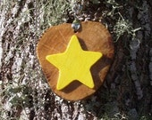 Wishing Star Handcrafted Wood Pendant