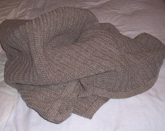 Gray Crochet Afghan