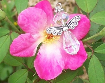 Angel Necklace and Earrings - Swarovski Crystal