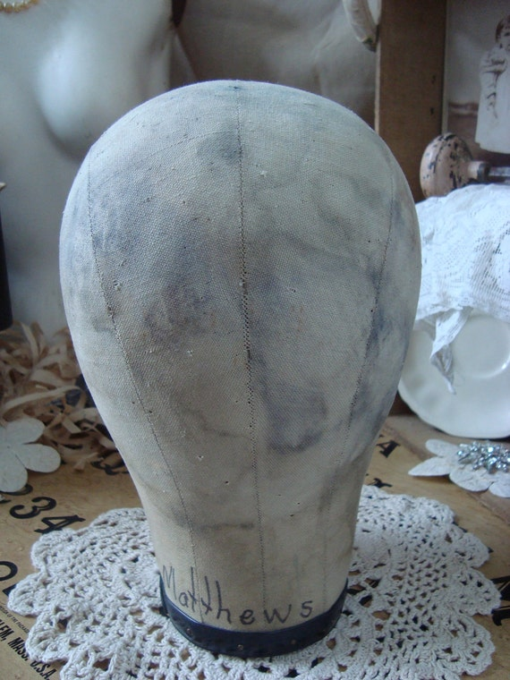 SALE Vintage Shabby Lightweight Mannequin Head Form
