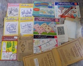 LOT of 12 Vintage Embroidery Patterns