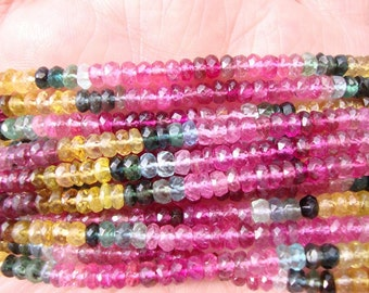 Reduced Price Top Quality 400 Carats Faceted Tourmaline Beads 10 Strands