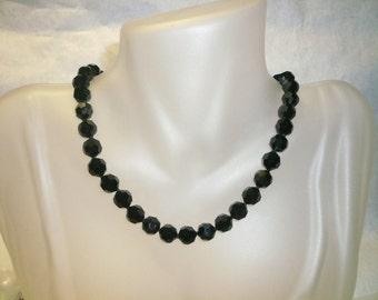 Kimadirose Black Swarovski Crystal Necklace