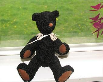 Handmade Recycled Fur Bear Black Persian Lamb -  Superb