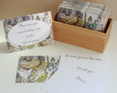 Guest Book - Vintage Floral Note Cards with prompted messages - Set of 200