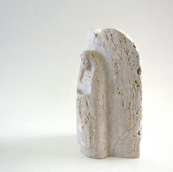 Stone Angel Carving Soapstone Sculpture Woman Spirit
