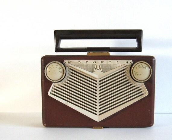 RESERVED for Garth, Vintage Motorola Golden Voice Tube Radio 56N1A