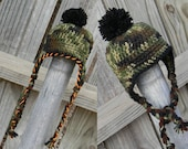 Camo Hat for boys, Baby boy hunting hat, Crochet Baby hats, Baby Boy Camo Hat