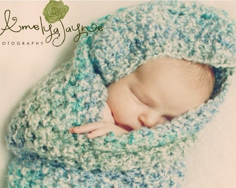 Crochet Pattern For Shell Baby Blanket : Newborn Baby Cocoon, Blue Baby Boy Cocoon, Crochet Baby ...