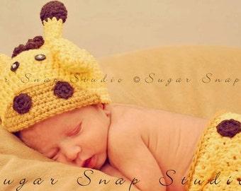 Crochet Giraffe Hat, Baby Giraffe Hat, Newborn Giraffe Hat, Baby Girl, Baby Boy, Crochet Baby Hats