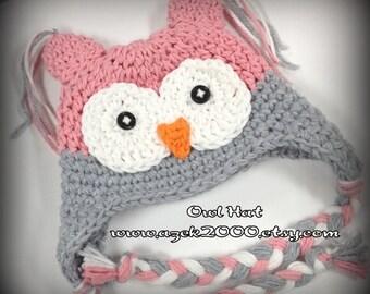 Baby Girl, Baby Girl Hats, Baby Owl Hat, Crochet Baby Hats, Newborn Owl Hat, Baby Hats, Croche Baby Hat