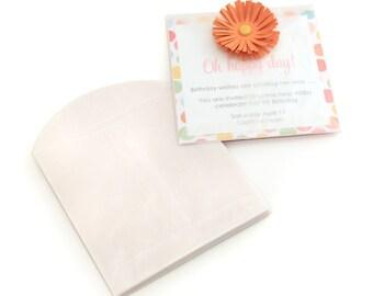 White Glassine Envelopes 4 x 4 (qty 24)