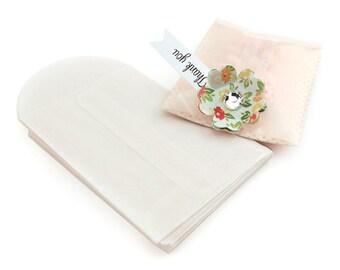 White Glassine Envelopes (qty 24)