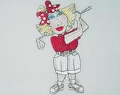 """Quilt Blocks Embroidered Machine (7) Golf Girls ll by """"Loralie"""""""