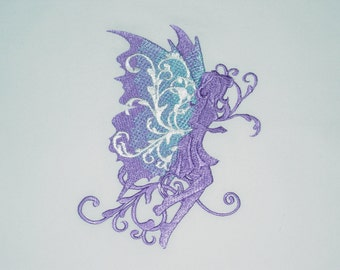 Filigree Fairies (6) Machine Embroidered Quilt Blocks