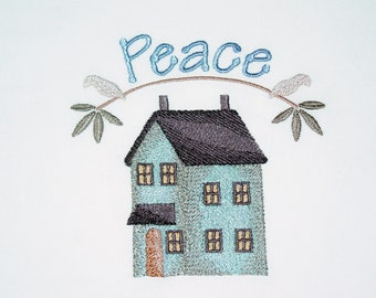 Loving Home (5) Machine Embroidered Quilt Blocks