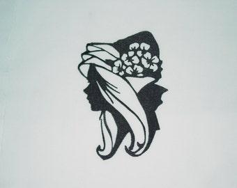 Victorian Silhouettes l (6) Machine Embroidered Quilt Blocks