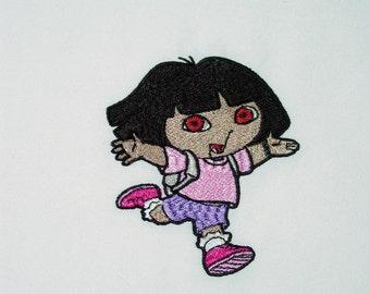 Dora the Explorer (7) Machine Embroidered Quilt Blocks